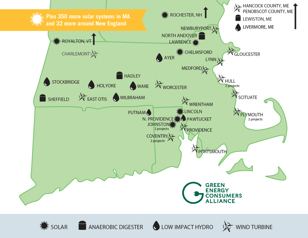 Green Energy Consumers Alliance Resources map