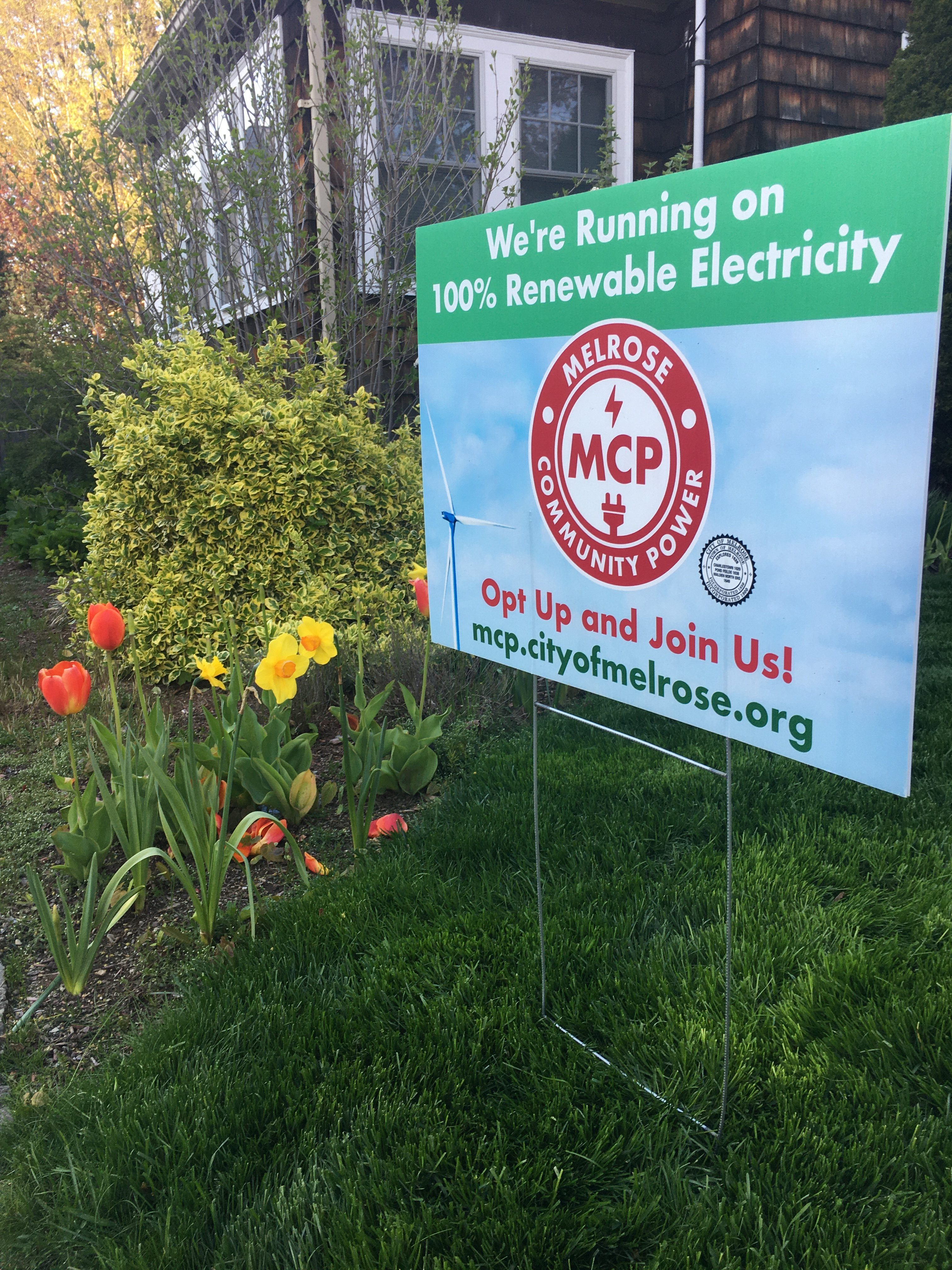 Melrose Community Power Lawn Sign